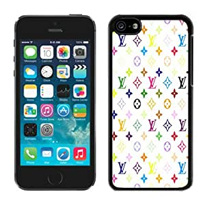 Perfect fit for your beloved phone,100% Brand New Louis Vuitton Patterns On White Background Black For iPhone 5C Case