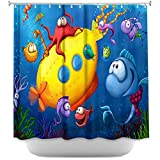 DiaNoche Designs Shower Curtains by Artist Toosh Toosh Unique, Cool, Fun, Funky, Stylish, Decorative Home Decor and Bathroom Ideas - Sea Life