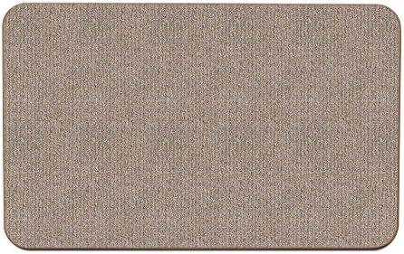 House, Home and More Skid-Resistant Carpet Indoor Area Rug Floor Mat – Pebble Beige – 8 Feet X 10 Feet