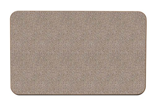 House, Home and More Skid-Resistant Carpet Indoor Area Rug Floor Mat – Pebble Beige – 3 Feet X 5 Feet