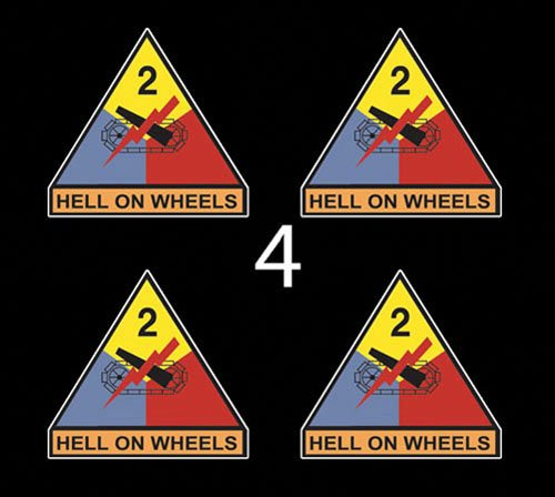 US Army 2nd Armored Division Hell On Wheels SSI 3