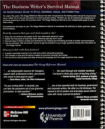 The Gregg Reference Manual, 10th Edition (University of Phoenix ...