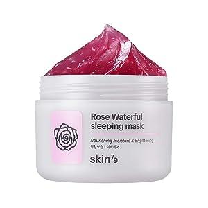 [SKIN79] Rose Waterful Sleeping Mask 3.38 fl.oz. (100ml) - Skin Soothing & Brightening Overnight Mask with Damask Rose Water, Fresh Moisture Capsule Oil Layer Gel for Skin Nourishing