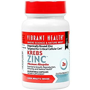Krebs Zinc, 60 Vegetable Capsules by Vibrant Health