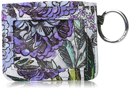 Vera Bradley Iconic Campus Double ID, Signature Cotton, Lavender Meadow