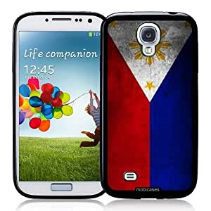 Flag of Philippines Grunge - Protective Designer BLACK Case - Fits Samsung Galaxy S4 i9500