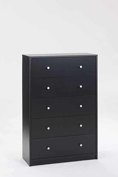 Tvilum Portland 5 Drawer Chest, Black
