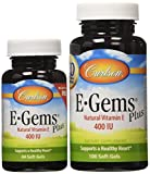 Carlson E-gems Plus 400 IU, 100 + 44 Softgels