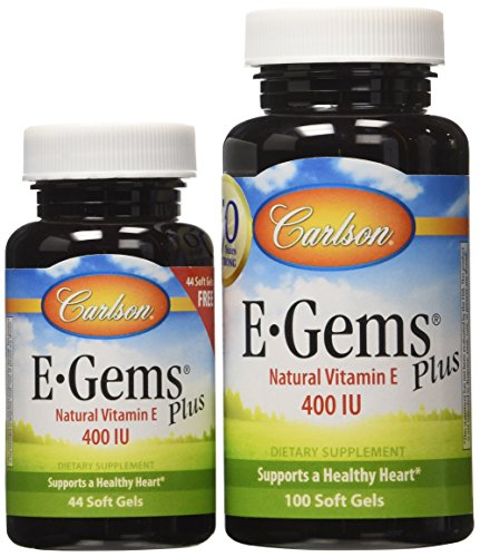 400 Iu 100 Softgel Capsules - Carlson E-gems Plus 400 IU, 100 + 44 Softgels