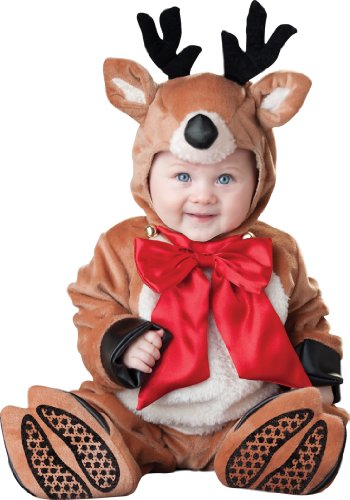 InCharacter Costumes Baby's Reindeer Rascal Costume, Brown/Red/White, Small (Reindeer Baby Costume)