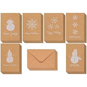Amazon greeting cards w envelopes 30 ct bulk christmas 36 pack merry christmas greeting cards bulk box set winter holiday xmas kraft greeting m4hsunfo
