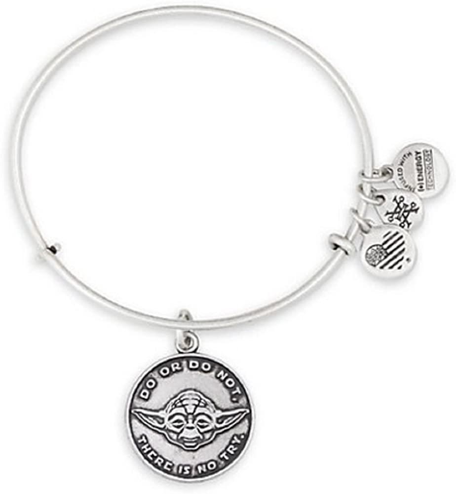 Disney Parks Star Wars May the Force Bangle by Alex and Ani Charm Gold finish