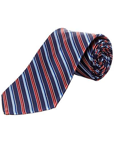 Brooks Brothers Mens Navy Stripe Silk Tie Brooks Brothers Silk Necktie