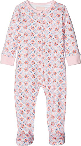 Joules Kids Baby Girl's All Over Printed Footie (Infant) Cream Summer Mosaic 9-12 Months by Joules Kids