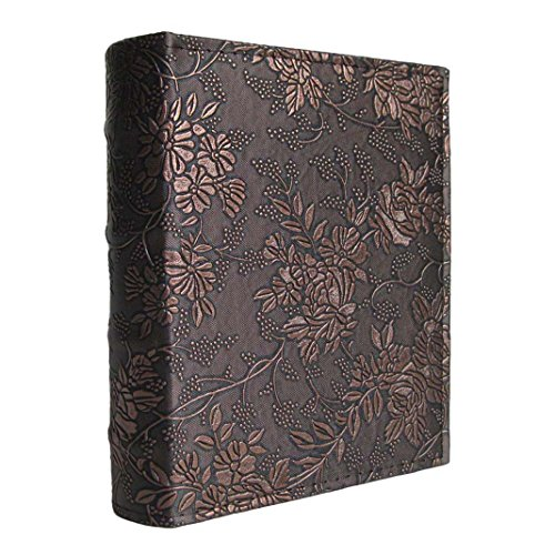 yepmax Vintage 5 x 7 Pocket Photo Albums Peony Flowers, 50 Sheets Hold 100pcs 5x7 Prints