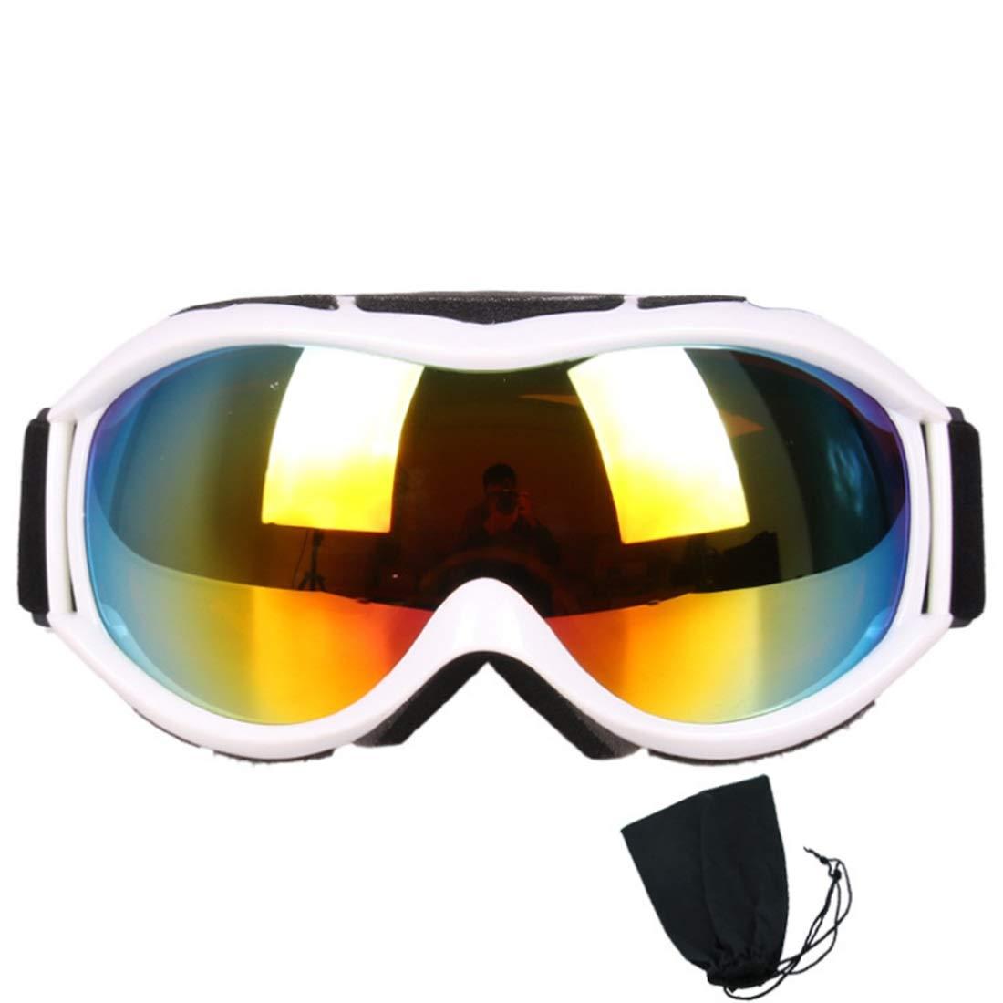 Cvthfyk ex Gafas de esquí, Gafas de Snowboard Protección UV, Lente Doble para Hombres Mujeres y jóvenes Moto de Nieve Esquí Patinaje (Color : 04) Gafas de Snowboard Protección UV