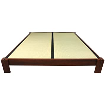 oriental furniture tatami platform bed walnut queen - Bed Frames Amazon