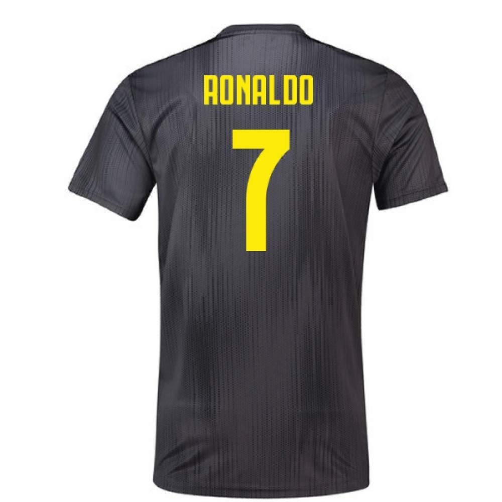 2018-19 Juventus Third Football Soccer T-Shirt Trikot (Cristiano Ronaldo 7) - Kids