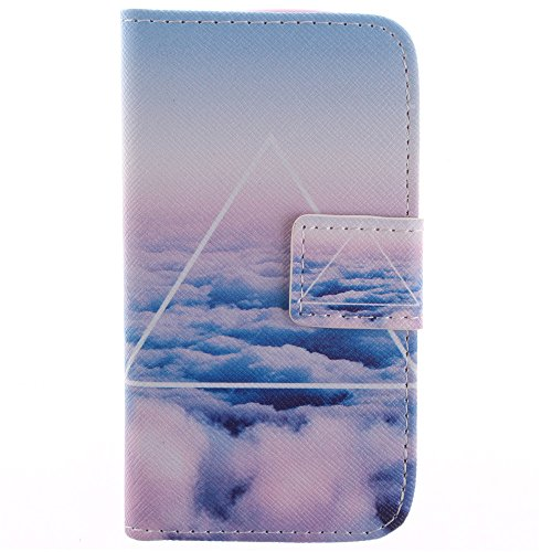 S7562 Case,S7582 Case, IVY Sky Clouds Graphics - Cute Fashion Magnetic Snap Wallet Card Flip Synthetic Leather TPU With Stand Cover Wallet Case For Samsung Galaxy S Duos S7562 / S Duos 2 S7582