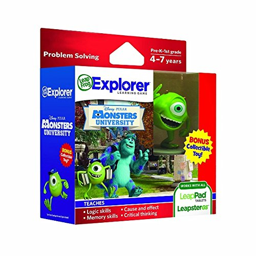 Software : LeapFrog Disney Pixar Monsters University Learning Game (works with LeapPad Tablets, LeapsterGS, and Leapster Explorer)