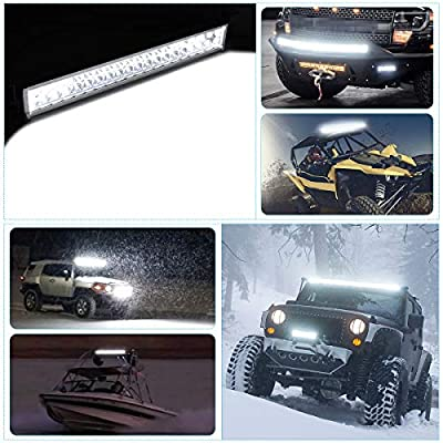 LED Light Bar YITAMOTOR White 22 inches LED Work Light Bar Spot Flood Light Driving Light Fog Light Compatible for Pickup, Off Road, SUV, ATV, UTE, Jeep, Tractor, 120W Combo LED Bar: Automotive