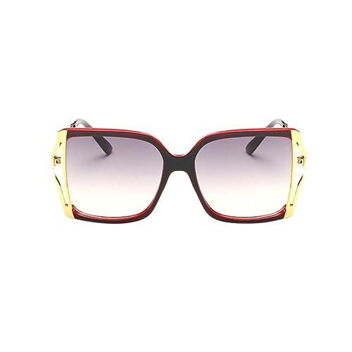 Zhuhaixmy Nuevo Gafas de sol de la manera de las mujeres Protección UV Gafas de sol cuadradas de gra...