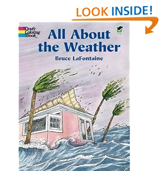 All About The Weather Dover Nature Coloring Book