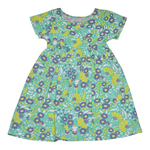 Flap Happy Big Girls' Classic Tee Dress, Garden Fairies, 6X