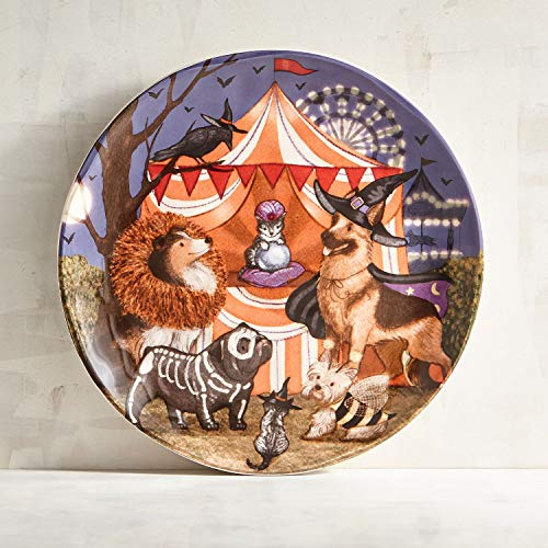 New Halloween Park Ave Puppies Dogs Dressed in Costumes Salad Dessert Appetizer Plates 8