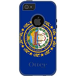 CUSTOM White OtterBox Commuter Series Case for Apple iPhone 5 / 5S - New Hampshire State Flag