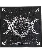 NUOBESTY Tarot Doek Godin Afdrukken Mysterieuze Sfeer Waarzeggerij Kaarten Tafelkleed Tapestry Astrologie Tarot Doek met Doek Tas voor Thuis Party (Geassorteerde Kleur)