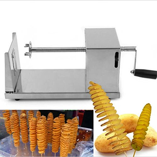 Electric Stainless Steel Twisted Potato Slicer Spiral Fre...