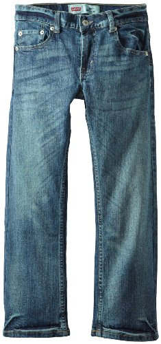 Levi's Boys' 505 Regular Fit Jeans, Clouded Tones, 16