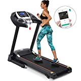 kisshes Newest Novel 2.5HP Folding Motorized Electric Treadmill, Efficient Home/Office/Gym Running Machine, Home Gym Exercise Fitness Equipment for Lose-Weight/Body-Builder (2.25HP)