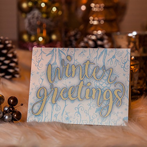 Greeting Cards w/ Envelopes (30 ct) Bulk Christmas Greeting Cards. Assorted Designs for Christmas Winter Holiday Greetings. Blank Cards Fun for Seasons Greetings! 4.25 x 5.5 in (A2) Spread X-mas Joy! Photo #7