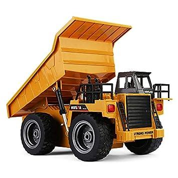Huina 1540 6CH 1/18 2.4G 40HMZ Juguetes de Control Remoto de Camiones de Metal RC: Amazon.es: Juguetes y juegos
