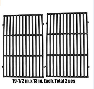 Charcoal Grill Grates - FAS INDUSTRY 7524 Barbecue Cooking Grate Replacement, Cast Iron Cooking grill Grid for Weber E-330 Grills 19.5 x 12.9 x 0.5,Set of 2