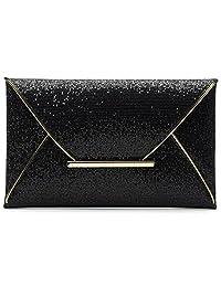Nodykka Women Glitter Sequins Handbag Party Evening Envelope Clutch Bag Wallet Purse