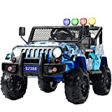 Uenjoy Kids Ride on Cars Remote Control Electric Motorized Vehicles W/ Spring Suspension, Music& Story Playing, Colorful...