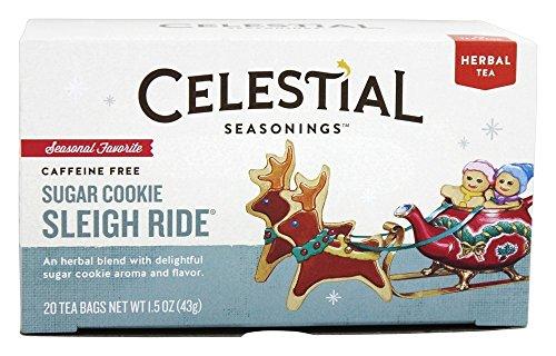 Celestial Seasonings Sugar Cookie Sleigh Ride Tea Bags - 20 ct - 2 Pack ()
