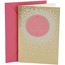 Hallmark Birthday Greeting Card for Her (Gold Satin)