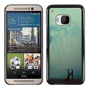 iKiki Tech / Estuche rígido - Pastel Tree Ray Couple Sweet - HTC One M9