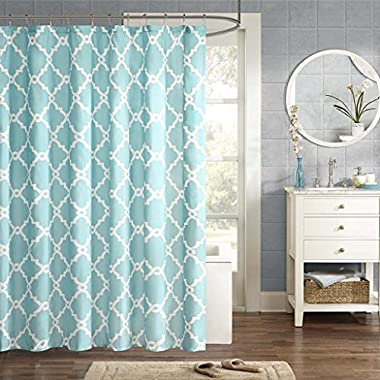 Madison Park MPE70-082 Essentials Merritt Shower Curtain 72x72  Aqua,72x72