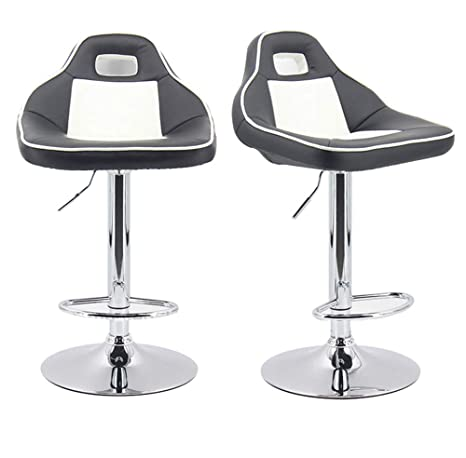 Stupendous Amazon Com Hbstool Adjustable Swivel Bar Stools Extra Tall Machost Co Dining Chair Design Ideas Machostcouk