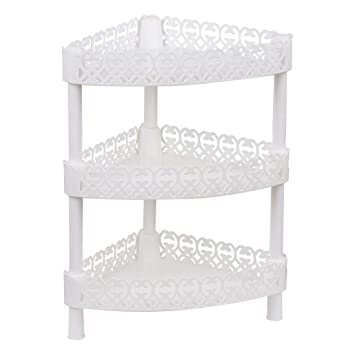 Uxcell Plastic Small 3 Layers Storage Shelves Shower Shelf