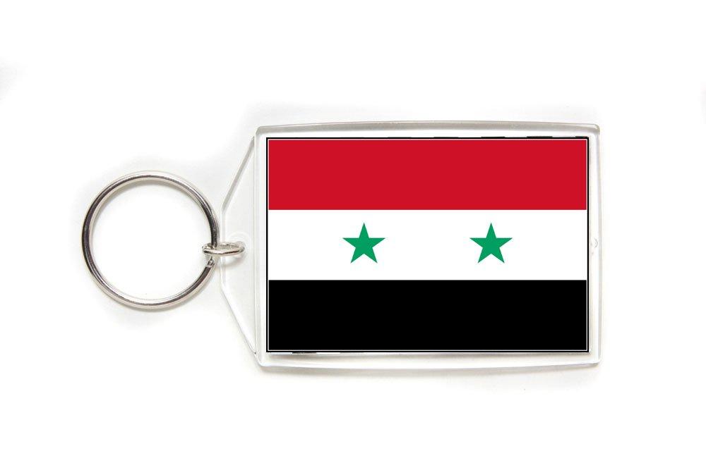 Amazon.com: Syria Bandera acrílico de doble cara llavero ...