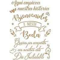 TODO STENCIL Deco Fiesta 038 Cartel Boda, Medidas: