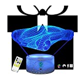 Car Racing Christmas Gift Birthday Remote 3D Night Lights Illusion lamp Led Table Lamps Desk Unique for Boys Kids Baby Home Decor Office Bedroom Party Decorations Nursery Lighting 7 Color Crackle