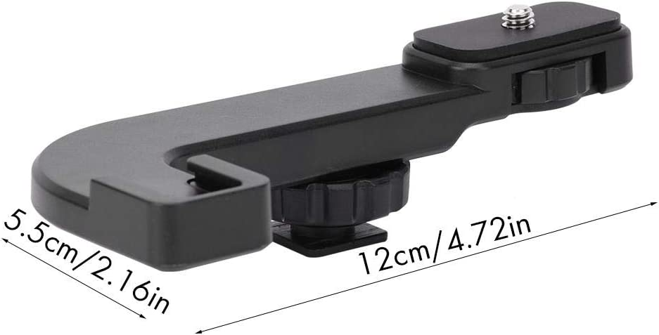 Mugast Universal Hot Shoe Extension Mounting Metal Microphone Holder Bracket for Gopro//Mobile Phone//Mirrorless Camera