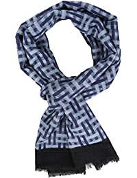 Sakkas 16136 - Jiel Long Wide Classic Multi Colored Pattern UniSex Cashmere Feel Scarf - Blue - OS